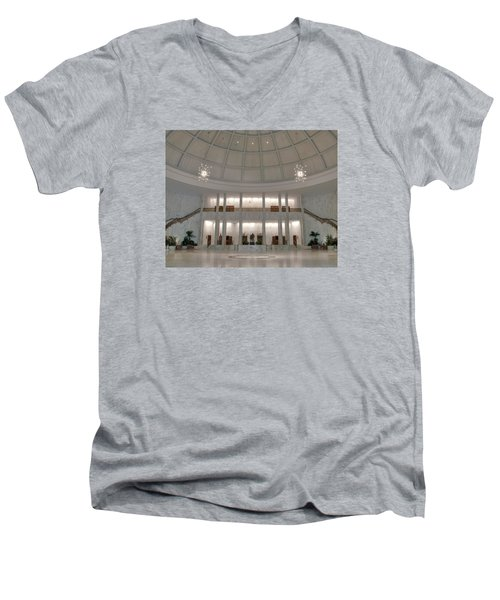 Men's V-Neck T-Shirt featuring the photograph The Rotunda 8 X 10 Crop by Mark Dodd