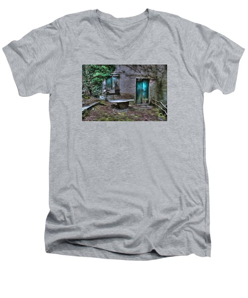 The Round Table House In The Abandoned Village Of The Ligurian Mountains High Way Men's V-Neck T-Shirt