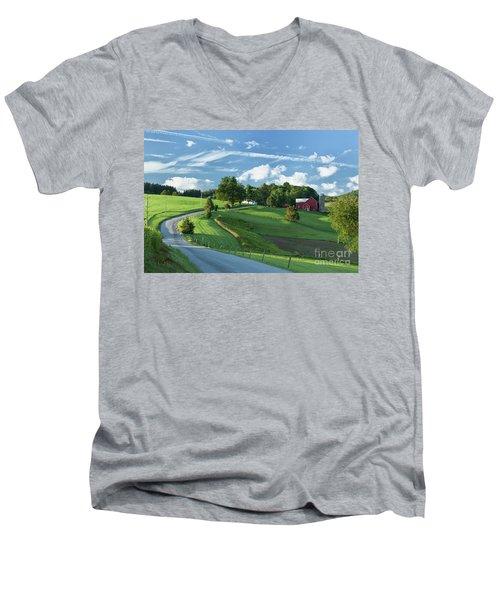 The Rudy Farm Men's V-Neck T-Shirt by Nicki McManus