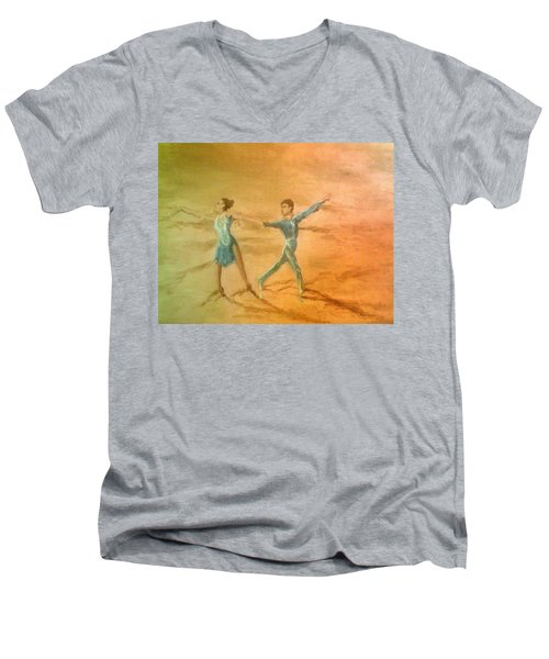The Rumba Extension Men's V-Neck T-Shirt