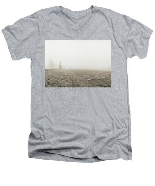 The Running Man Men's V-Neck T-Shirt by Jan W Faul