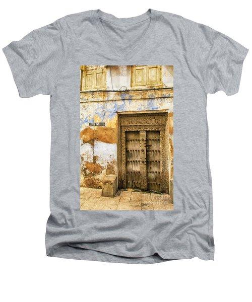 The Rustic Door Men's V-Neck T-Shirt