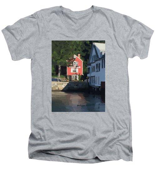 The Sacred Cod And Beacon Marine Men's V-Neck T-Shirt