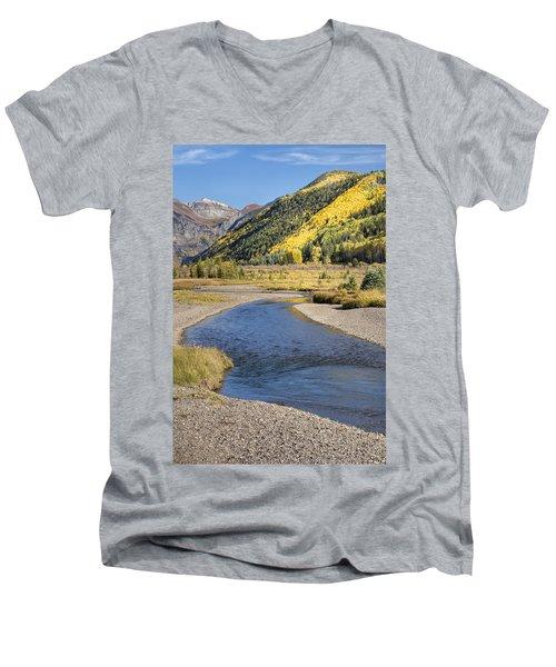 The San Miguel In Autumn Men's V-Neck T-Shirt