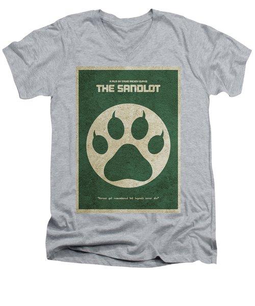 The Sandlot Alternative Minimalist Movie Poster Men's V-Neck T-Shirt by Ayse Deniz