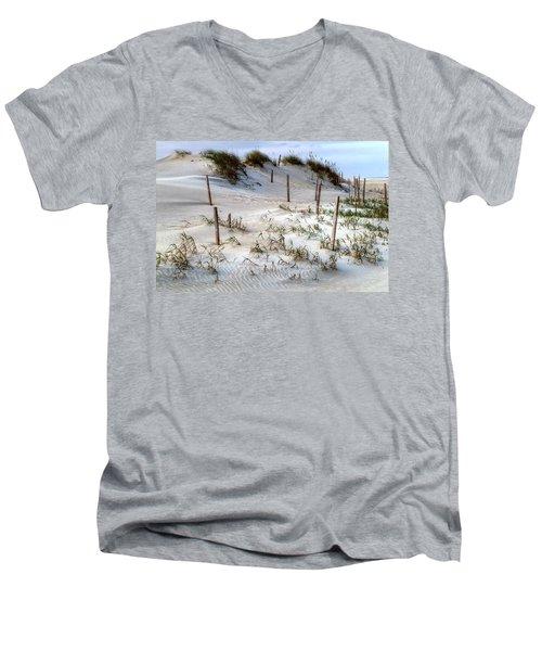 The Sands Of Obx Hdr II Men's V-Neck T-Shirt