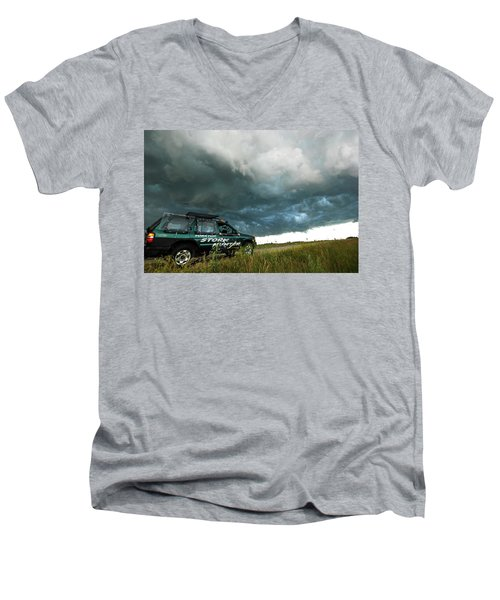 Men's V-Neck T-Shirt featuring the photograph The Saskatchewan Whale's Mouth by Ryan Crouse