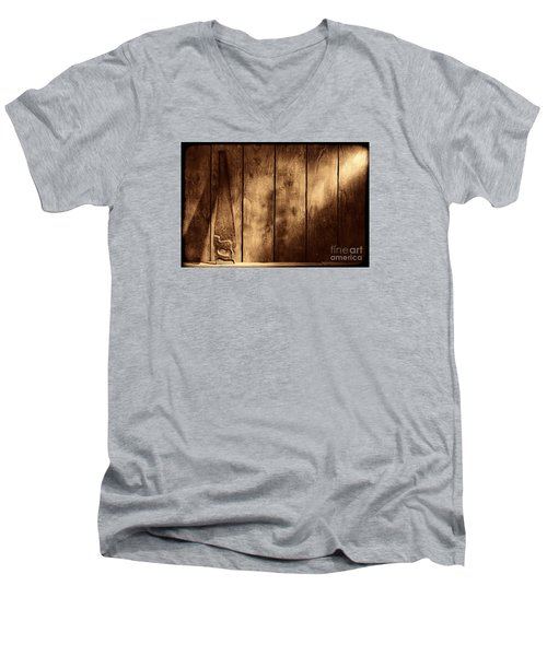The Saw Men's V-Neck T-Shirt by American West Legend By Olivier Le Queinec