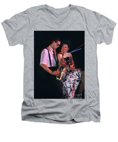 The Sax Man And The Girl Men's V-Neck T-Shirt