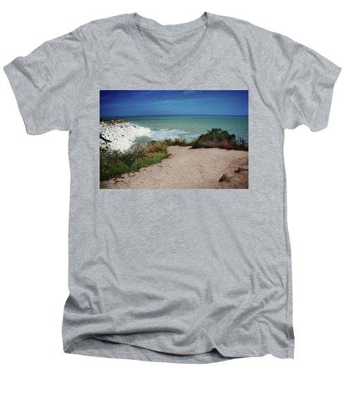 The Scala Dei Turchi Men's V-Neck T-Shirt by Patrick Boening