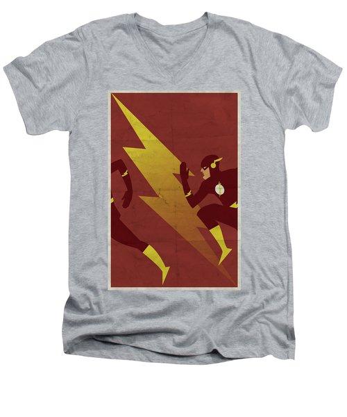 The Scarlet Speedster Men's V-Neck T-Shirt