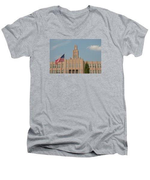 The School On The Hill Men's V-Neck T-Shirt