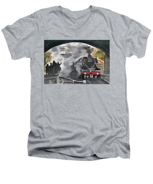 The Scotsman Men's V-Neck T-Shirt by Carole Robins