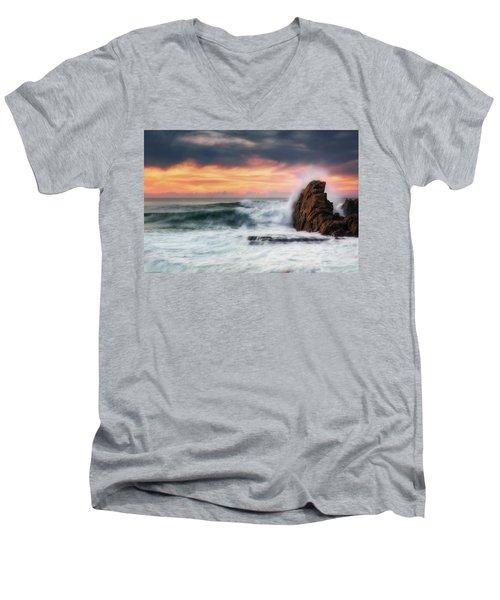 The Sea Against The Rock Men's V-Neck T-Shirt
