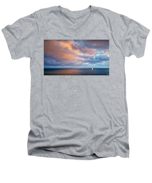 The Sea At Peace Men's V-Neck T-Shirt