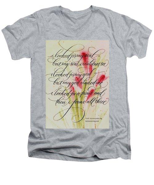 The Searcher By Thomas Blake Men's V-Neck T-Shirt