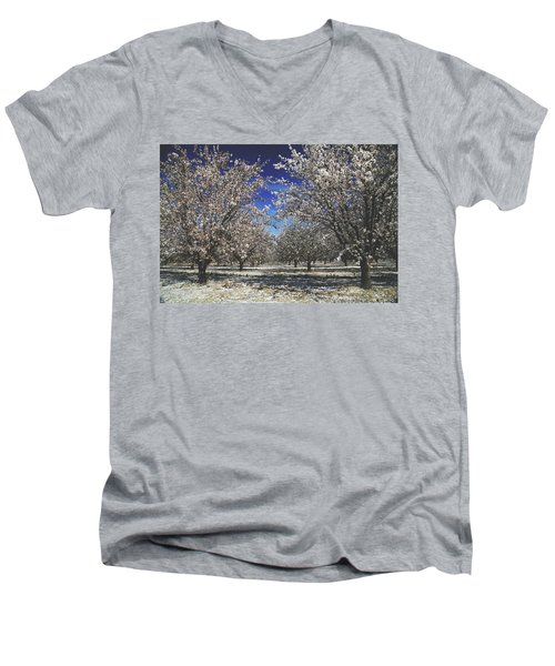 Men's V-Neck T-Shirt featuring the photograph The Season Of Us by Laurie Search