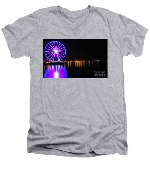 The Seattle Ferris Wheel Men's V-Neck T-Shirt