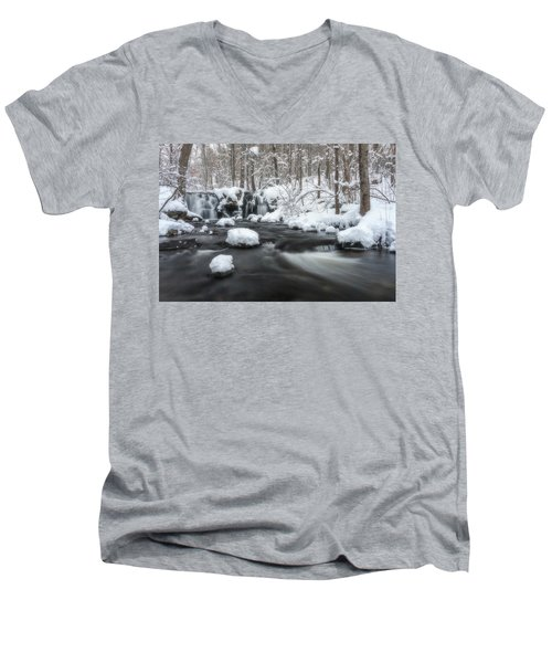 The Secret Waterfall In Winter 2 Men's V-Neck T-Shirt