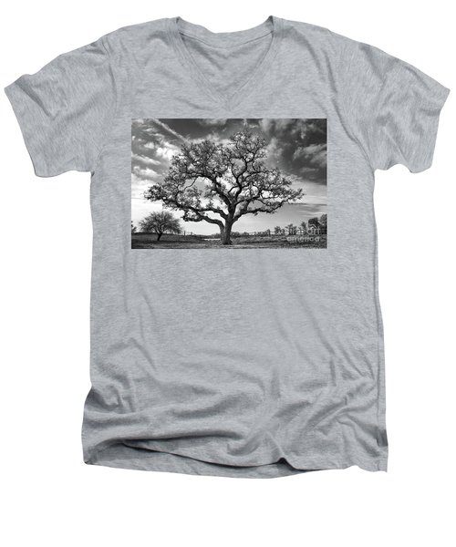 The Sentinel Bw Men's V-Neck T-Shirt