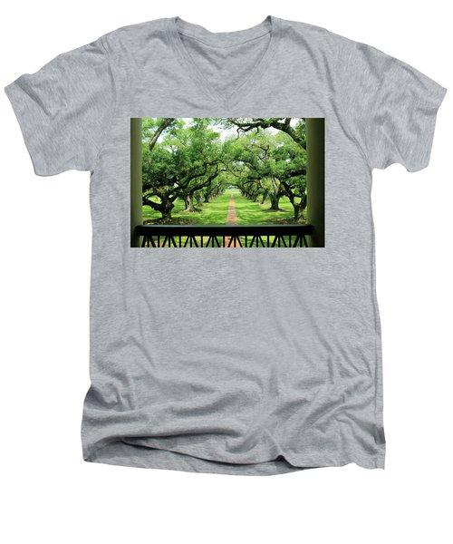 The Shade Of The Oak Tree Men's V-Neck T-Shirt