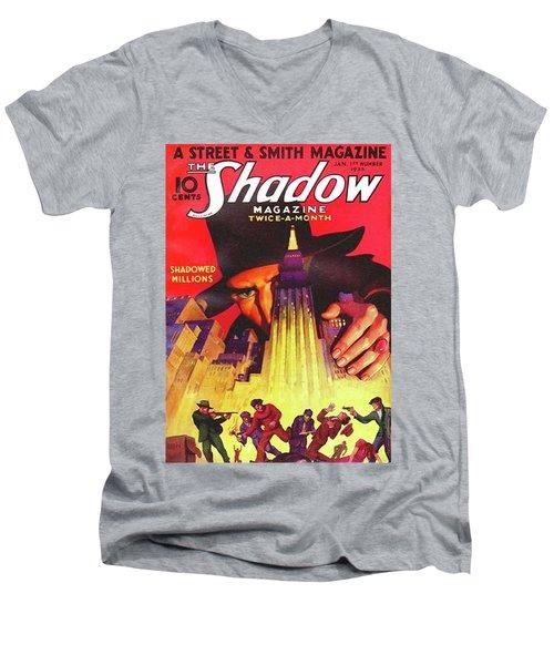 The Shadow Shadowed Millions Men's V-Neck T-Shirt