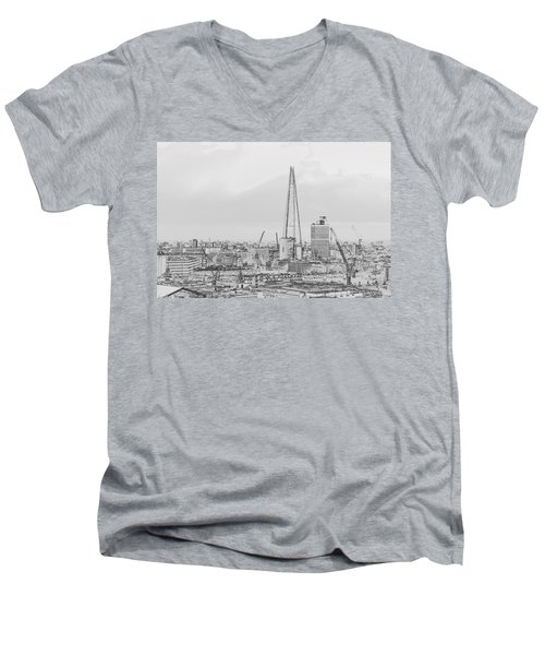 The Shard Outline Poster Bw Men's V-Neck T-Shirt
