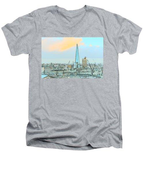 The Shard Outline Poster Men's V-Neck T-Shirt