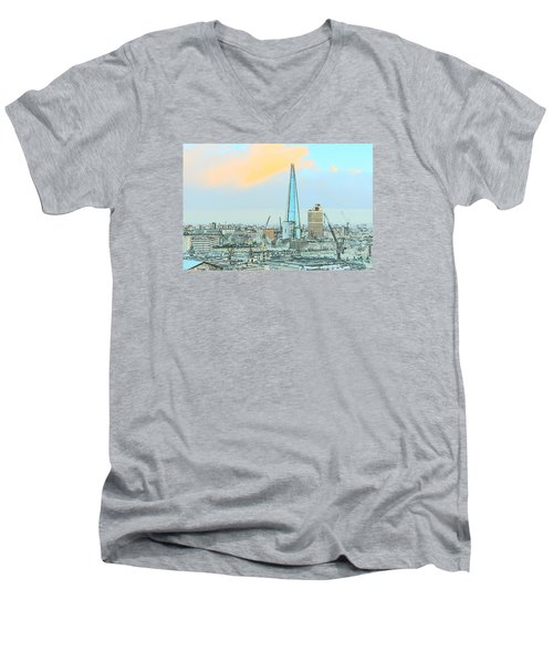 The Shard Outline Poster Men's V-Neck T-Shirt