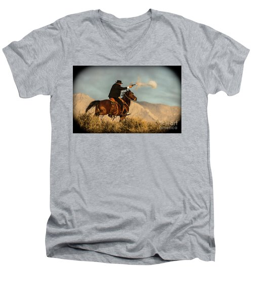 The Sharp Shooter Western Art By Kaylyn Franks Men's V-Neck T-Shirt