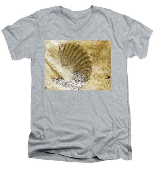 The Shell Fossil Men's V-Neck T-Shirt
