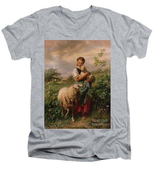 The Shepherdess Men's V-Neck T-Shirt