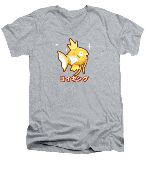 The Shiny Koiking Men's V-Neck T-Shirt