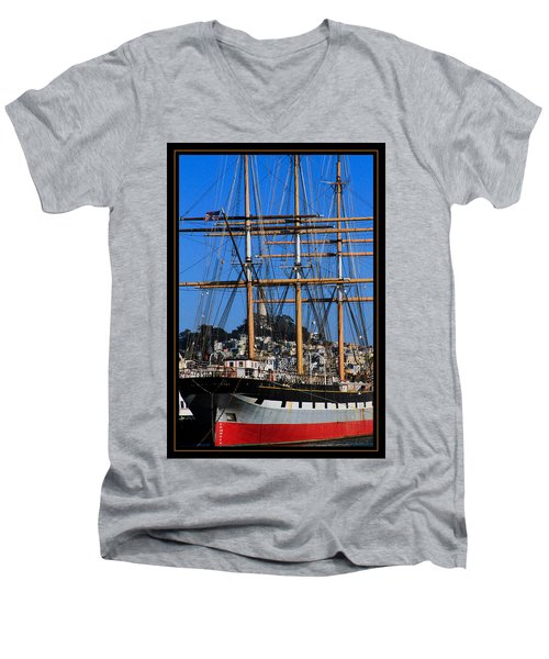 The Ship Balclutha Men's V-Neck T-Shirt