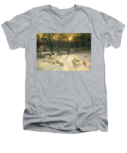 The Shortening Winters Day Is Near A Close Men's V-Neck T-Shirt