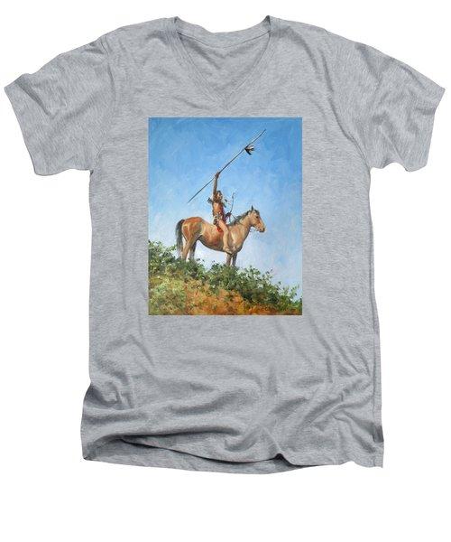 The Signal Men's V-Neck T-Shirt by Connie Schaertl