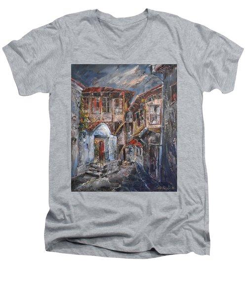 The Silent Street Iv Men's V-Neck T-Shirt