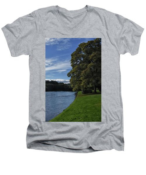 The Silvery Tay By Dunkeld Men's V-Neck T-Shirt
