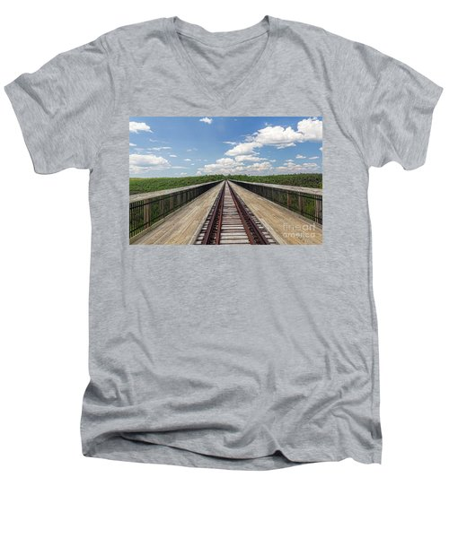 Men's V-Neck T-Shirt featuring the photograph The Skywalk by Jim Lepard