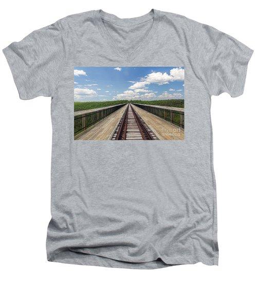 The Skywalk Men's V-Neck T-Shirt