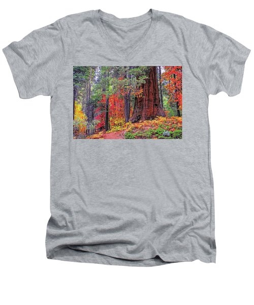 The Small And The Mighty Men's V-Neck T-Shirt by Lynn Bauer