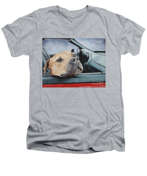The Smell Of Freedom Men's V-Neck T-Shirt by Mary-Lee Sanders
