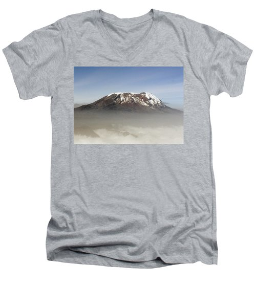 The Snows Of Kilimanjaro Men's V-Neck T-Shirt by Patrick Kain