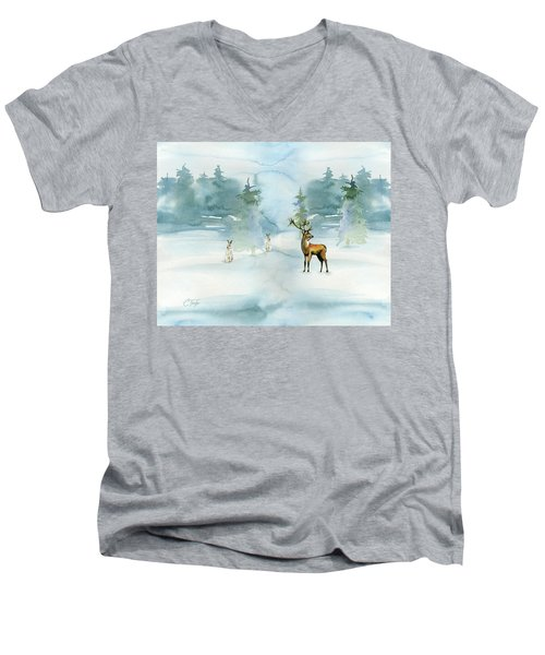 The Soft Arrival Of Winter Men's V-Neck T-Shirt