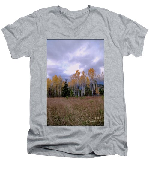 The  Song Of The Aspens 2 Men's V-Neck T-Shirt by Victor K