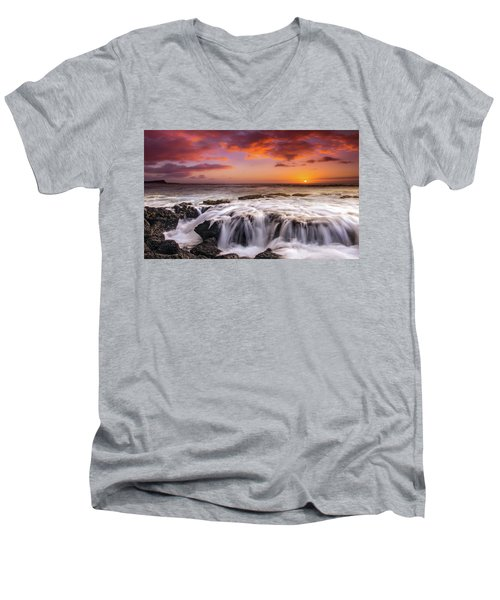 The Sound Of The Sea Men's V-Neck T-Shirt by James Roemmling