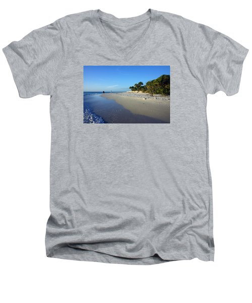 The South End Of Barefoot Beach In Naples, Fl Men's V-Neck T-Shirt