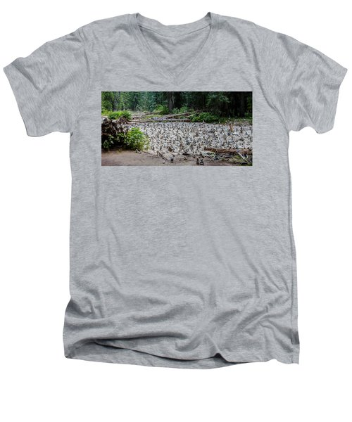 Men's V-Neck T-Shirt featuring the photograph The Spirit Crossing by Fran Riley
