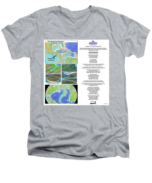 The Spirit Of Atlantis Poem Men's V-Neck T-Shirt
