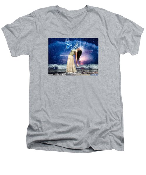 The Spirit Of Truth Men's V-Neck T-Shirt by Dolores Develde
